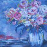 """Pot aux roses Acrylique 24"""" x 30"""""""