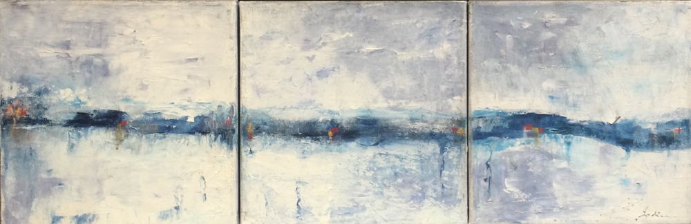 Trait d'horizon (trytique) 10 x 30 (002) 18012021